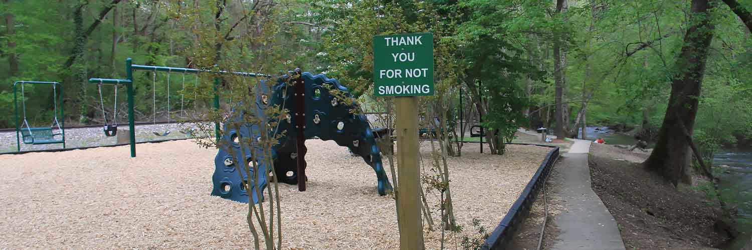 Please NO SMOKING at Talking Rock Park with Playground