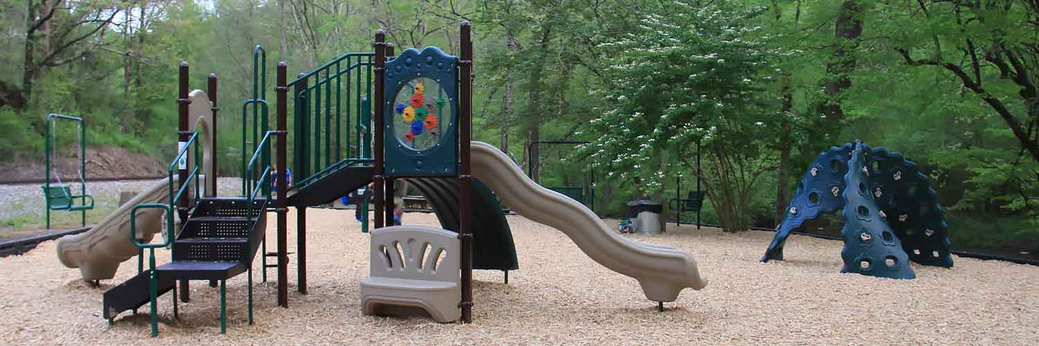 Talking Rock Park with Playground Swings Slide Climb
