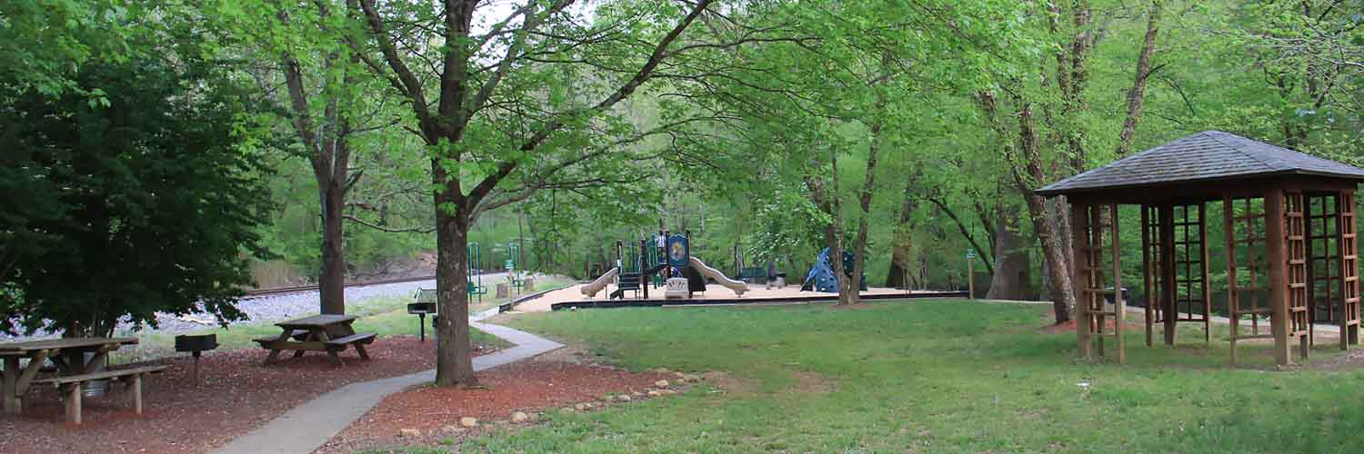 Talking Rock Park with Playground Pavilion Rental Bathrooms Grills Picnic Tables